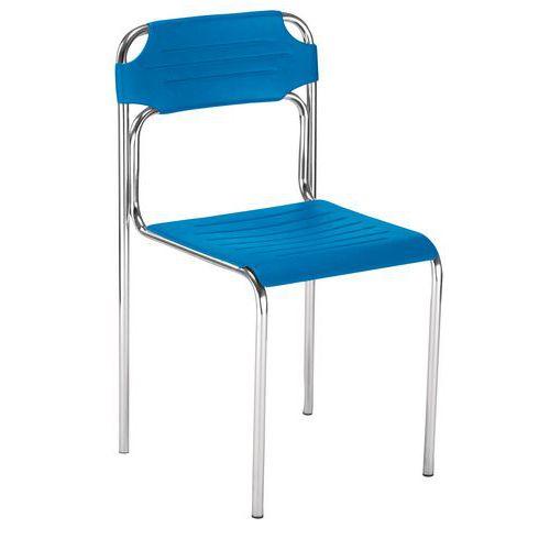Plastová jídelní židle Cortessa, modrá