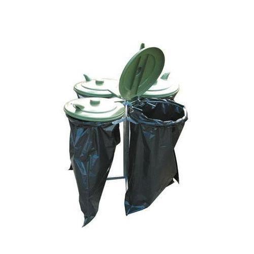 Skládací stojan Quatro na odpadkové pytle s víkem
