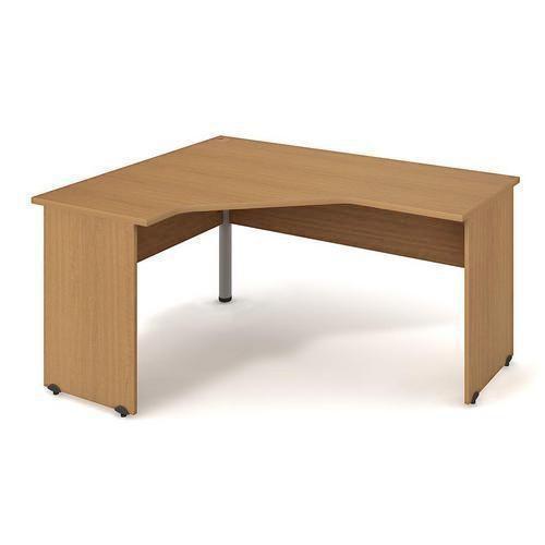 Rohový kancelářský stůl Gate, 160 x 120 x 75,5 cm, levé provedení, dezén buk - Prodloužená záruka na 10 let