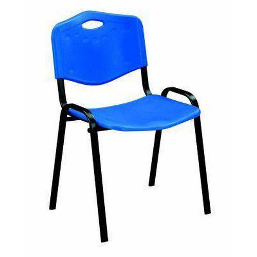 Plastová jídelní židle ISO, modrá