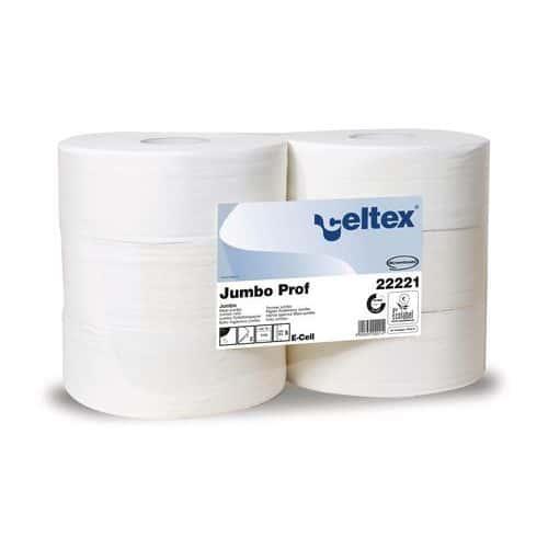 Toaletní papír Celtex Lux Jumbo 2vrstvý, 27 cm, 1780 útržků, bíl