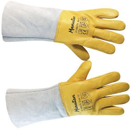 d25a1cfe528 Zimní kožené rukavice Manutan