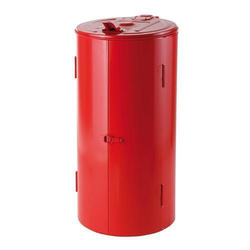 Stojan Meva na odpadkové pytle s víkem, červený