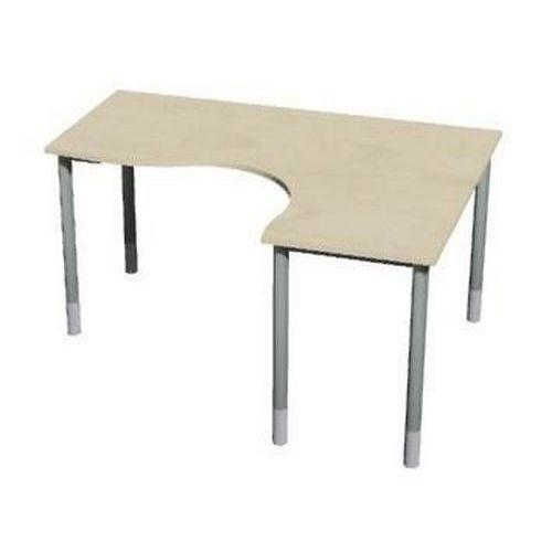 Roh kancelářský stůl Gemi line, 180/80 x 140/65 x 70-90 cm, pravé provedení, javor jersey