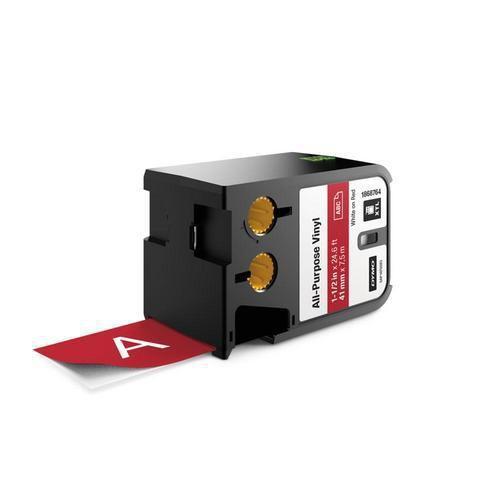 Vinylová univerzální páska XTL, 41 mm, 7 m, bílá na červené