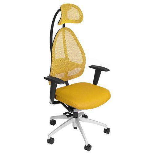 Kancelářská židle Open Art, žlutá
