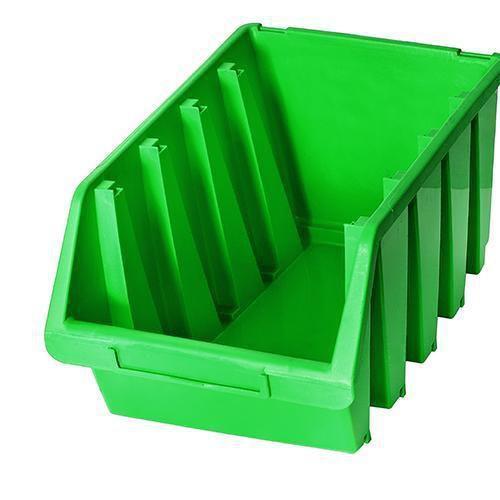 Plastový box Ergobox 4, 15,5 x 34 x 20,4 cm, zelený