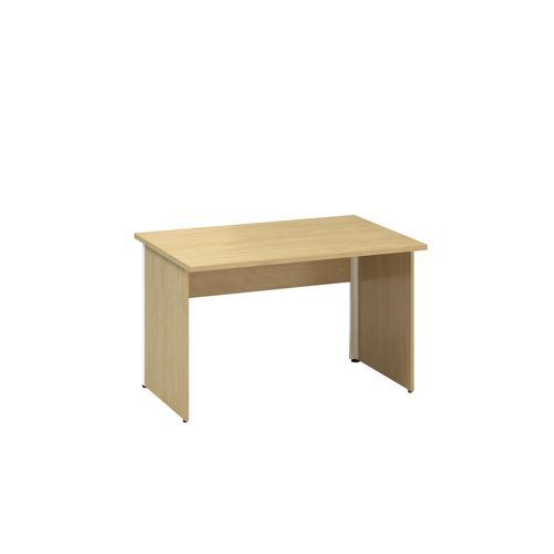 Kancelářský stůl Alfa 100, 120 x 80 x 73,5 cm, rovné provedení, dezén divoká hruška