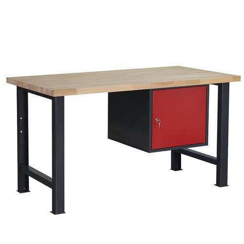 Dílenský stůl Weld se skříňkou 41 cm, 84 x 150 x 80 cm, antracit