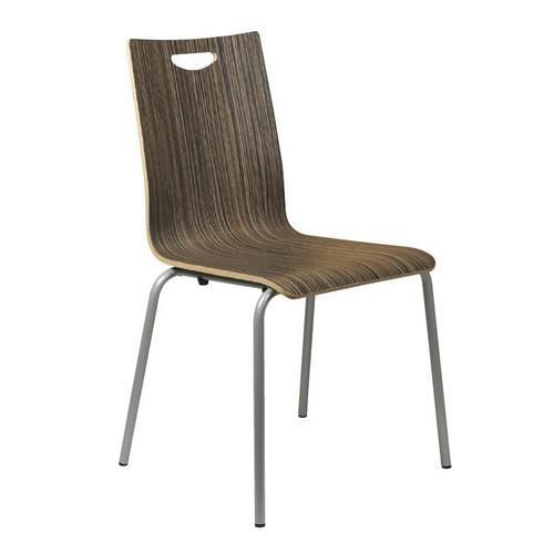 Dřevěná jídelní židle Lily, tmavé zebrano