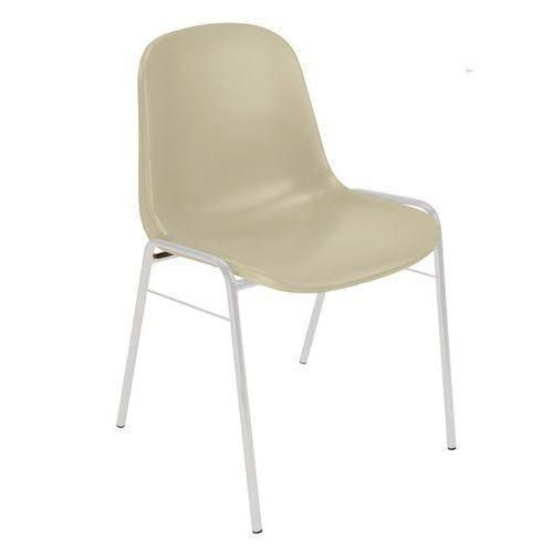 Plastová jídelní židle Manutan Shell, béžová