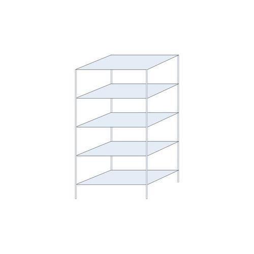 Kovový regál Ogmios, základní, 200 x 100 x 60 cm, 1 300 kg, 5 po
