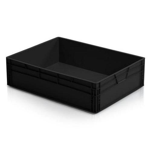 Antistatická přepravka ESD, černá, 22x80x60 cm