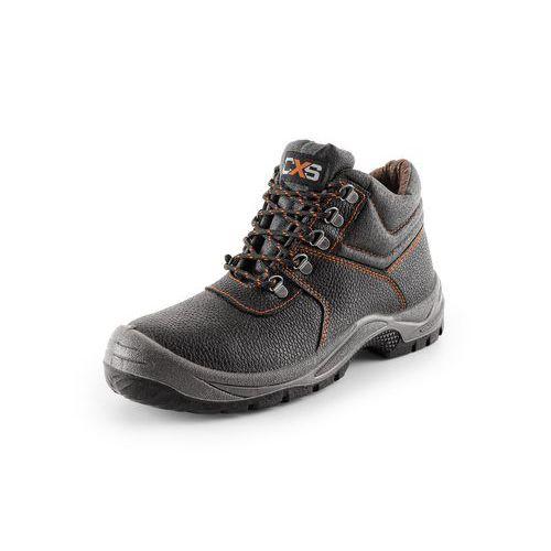 Pracovní kožená kotníková obuv STONE, zateplená, vel. 49