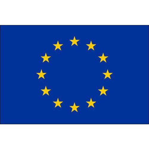 Malá státní vlajka, s očkem pro zavěšení, 16 x 11 cm, Evropská u