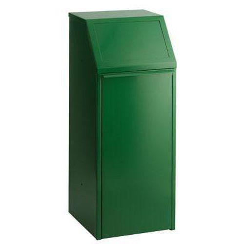 Kovový odpadkový koš na tříděný odpad, objem 70 l, zelený