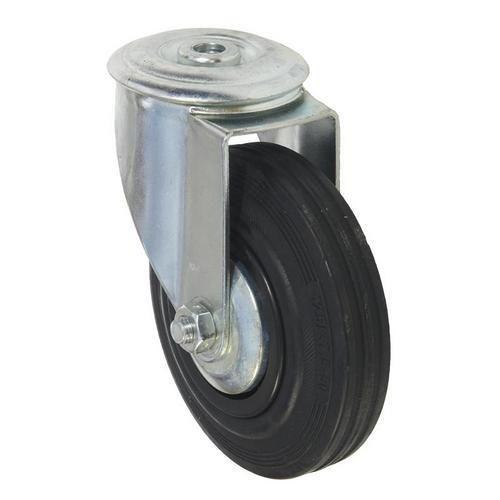 Gumové transportní kolo se středovým otvorem, průměr 125 mm, oto