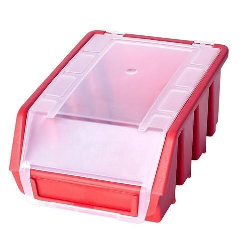 Plastový box Ergobox 2 Plus 7,5 x 16,1 x 11,6 cm, červený