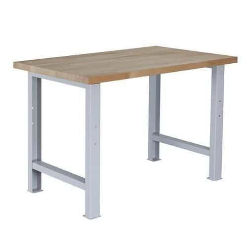 Dílenský stůl Weld, 84 x 120 x 80 cm, šedý