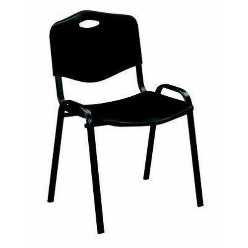 Plastová jídelní židle ISO, černá