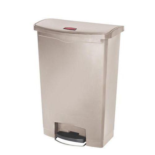 Plastový odpadkový koš Rubbermaid Front Step, objem 90 l, béžový - Prodloužená záruka na 10 let