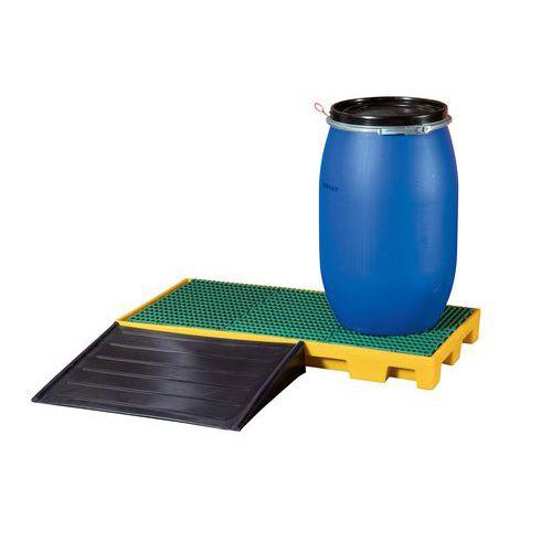 Plastová záchytná vana s roštem, kapacita 81 l