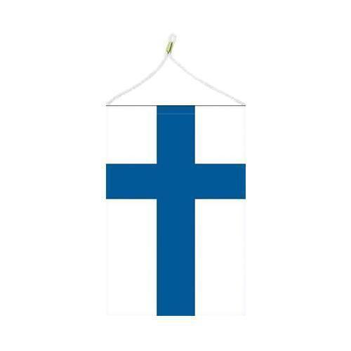Malá státní vlajka, s očkem pro zavěšení, 16 x 11 cm, Finsko