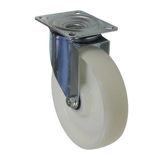 Nylonové transportní kolo s přírubou, průměr 200 mm, otočné, val