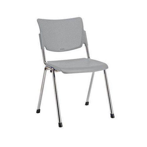 Plastová jídelní židle MIA Chrom, šedá