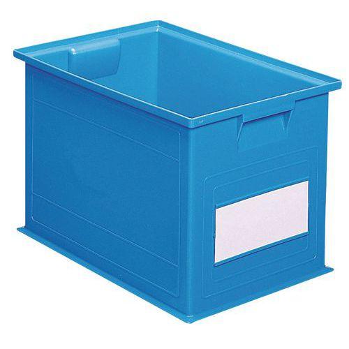 Barevná plastová přepravka PS (40,5 l), modrá