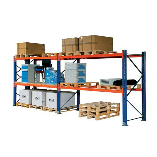 Paletový regál, základní, 210,6 x 180 x 75 cm, 5 200 kg, 3 patra, modrý