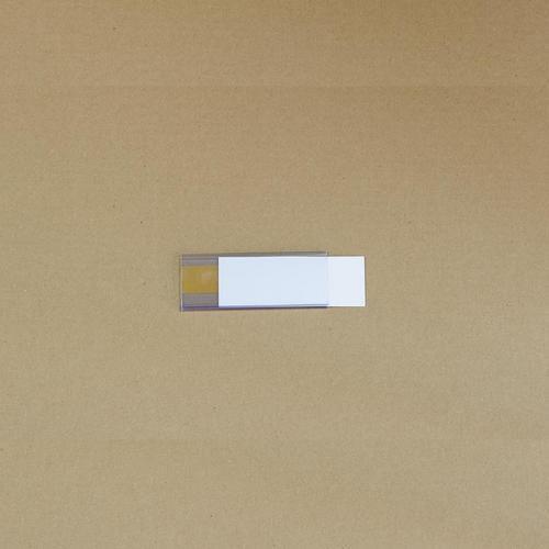 Manutan držák etiket na regály, samolepicí, 38 x 100 mm