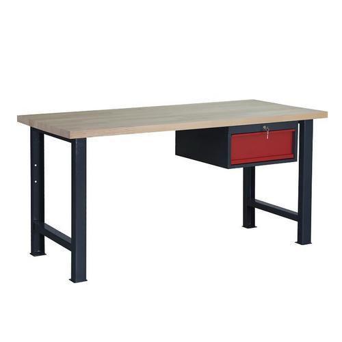 Dílenský stůl Weld se zásuvkou, 84 x 170 x 80 cm, antracit - Prodloužená záruka na 10 let