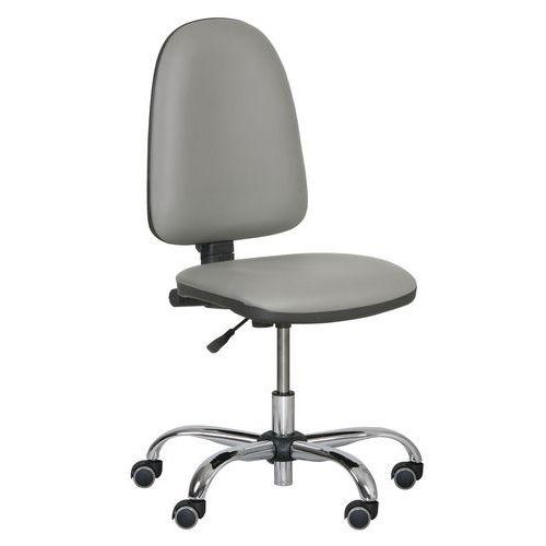 Pracovní židle Torino plus s měkkými kolečky, šedá
