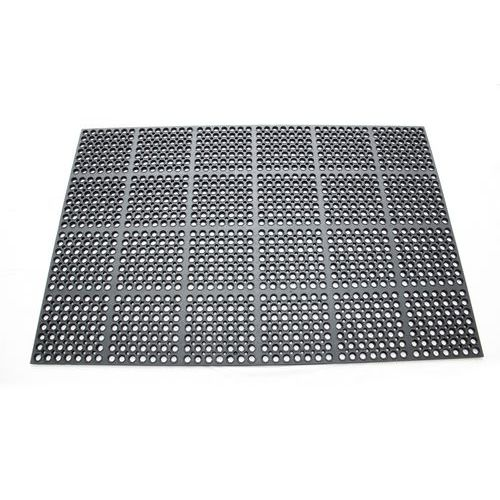Protiúnavová průmyslová rohož s děrovaným povrchem, 150 x 100 cm
