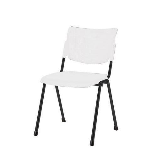 Plastová jídelní židle MIA Black, bílá