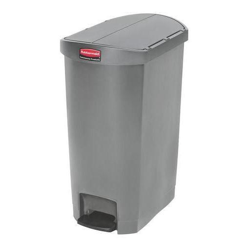 Plastový odpadkový koš Rubbermaid End Step, objem 50 l, šedý - Prodloužená záruka na 10 let