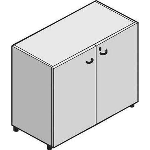 Nízké široké skříně System, 86 x 86 x 45 cm, s dvířky