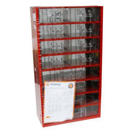 Kovový organizér, 12 zásuvek, červený - Prodloužená záruka na 10 let