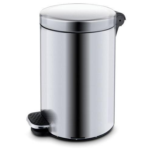Kovový odpadkový koš Basic, objem 5 l, matný nerez