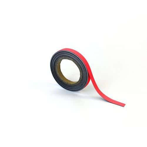 Popisovatelná páska na regály, magnetická, červená, 1,5 x 1000 c