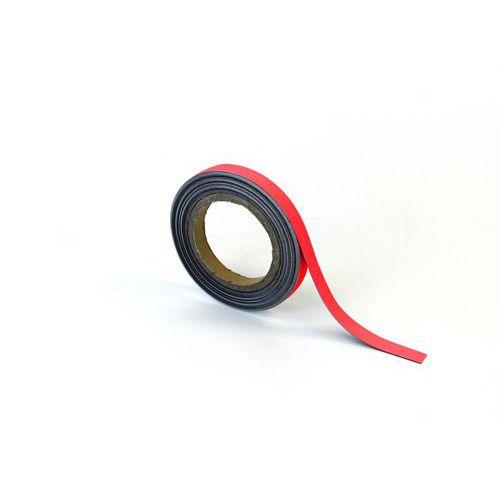 Magnetická páska na regály Manutan, 10 m, červená, šířka 15 mm