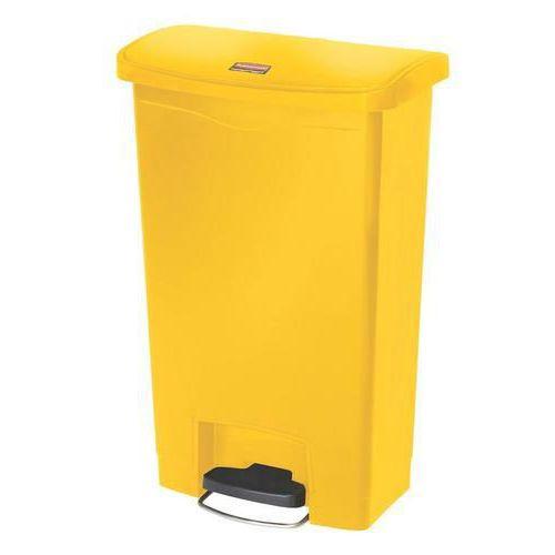 Plastový odpadkový koš Rubbermaid Front Step, objem 50 l, žlutý