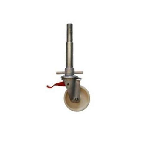 Výškově stavitelné plastové kolo s brzdou, průměr 150 mm