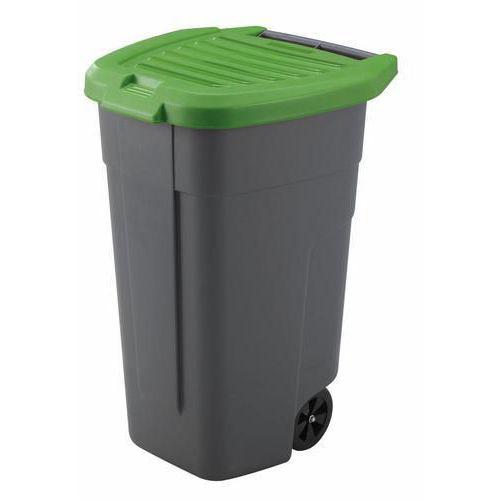 Plastová popelnice na tříděný odpad, objem 100 l, zelená