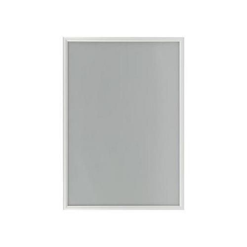 Protipožární rám na plakáty P25, ostré rohy, stříbrný, B2