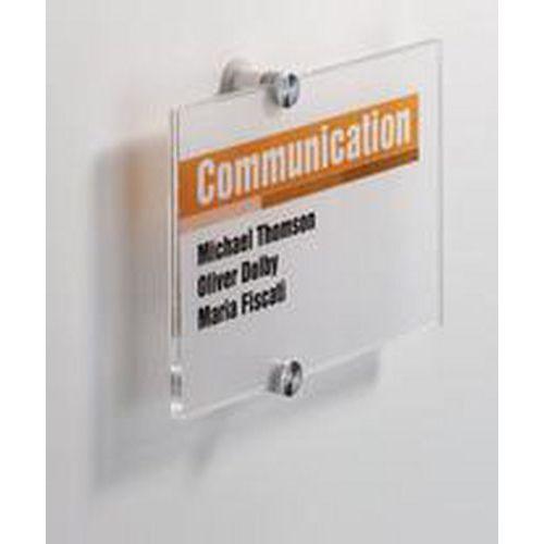 Informační dveřní tabulka Crystal Sign, 148 x 210 mm