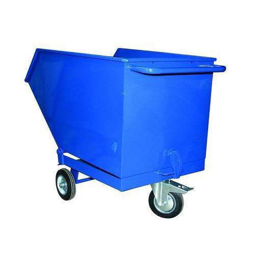 Pojízdný výklopný kontejner, objem 250 l, modrý