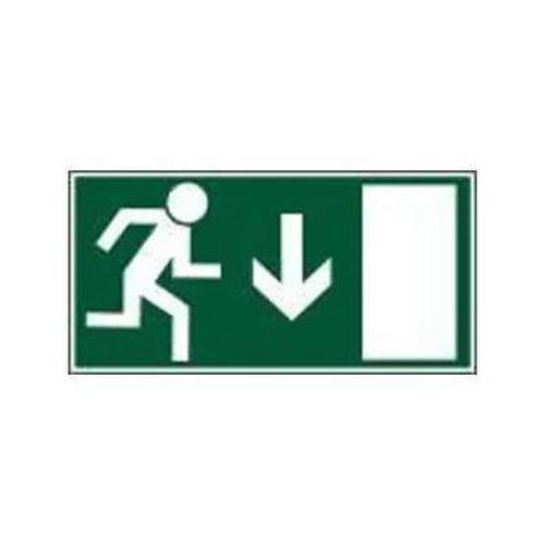Úniková fotoluminiscenční bezpečnostní tabulka - Únikový východ nad dveře, samolepicí fólie