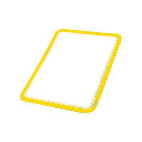 Informační kapsa Varna A4, magnetická, žlutá